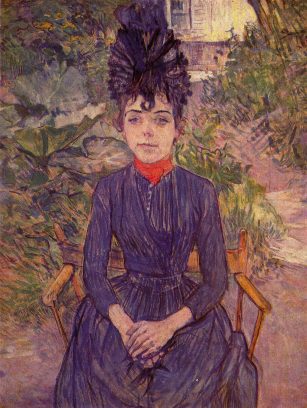 "Henri de Toulouse-Lautrec. Portrait of Justine die in the garden ""Per fora"""