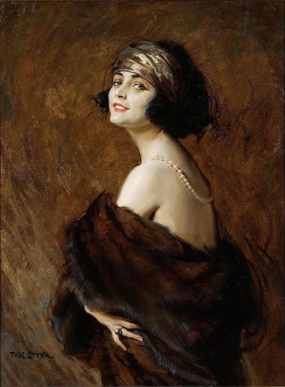 Tadeusz Joint. Portrait of Paula Negri