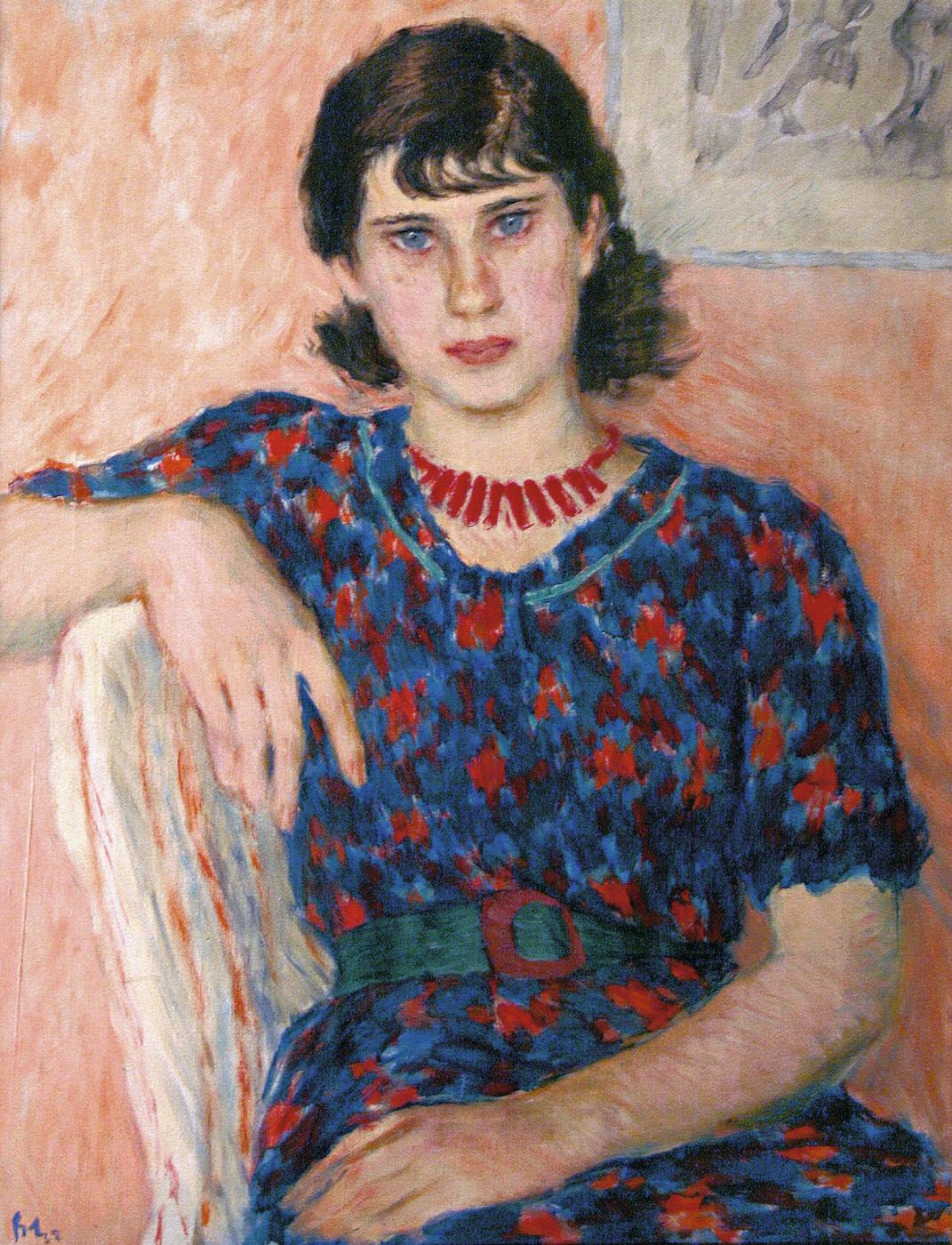Vladimir Vasilyevich Lebedev. Portrait of a girl with bangs
