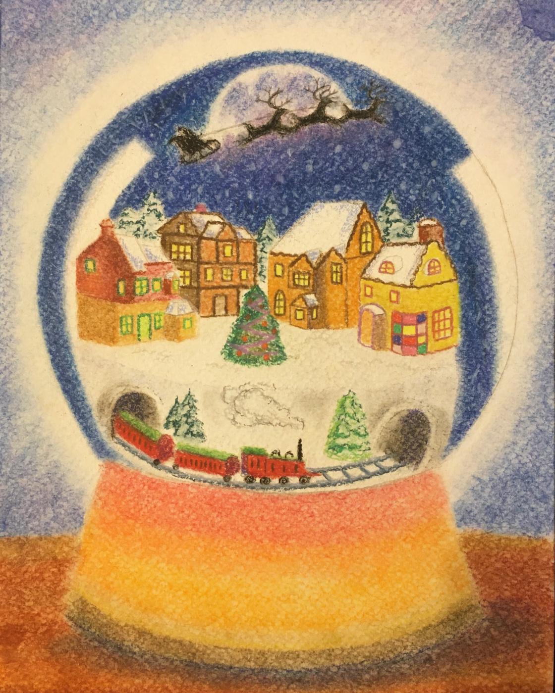 Milena Burdyga. Christmas ball