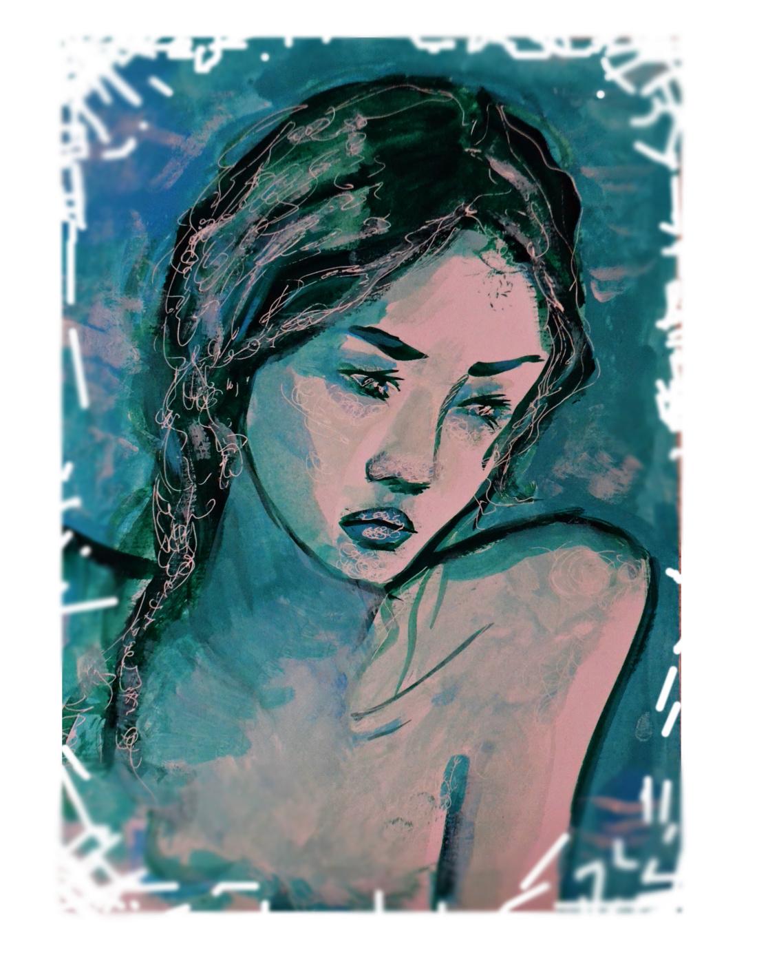Елена Валерьевна Ведяева. Blue girl