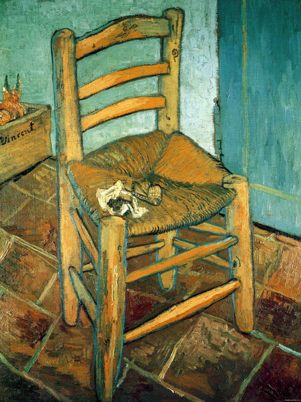 Vincent van Gogh. Vincent's chair with pipe