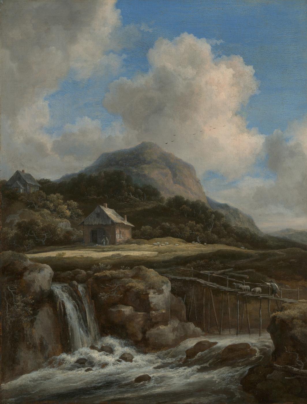 Jakob van Isaacs Ruisdael. Mountain brook