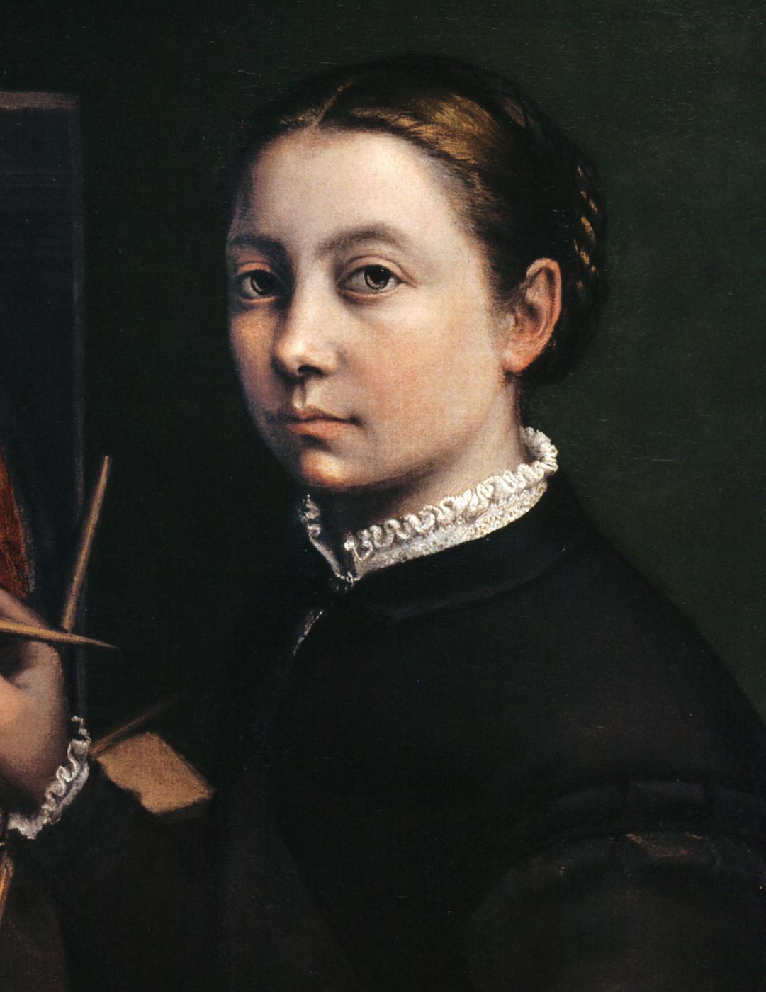 Sofonisba Anguissola. Self-portrait near the easel