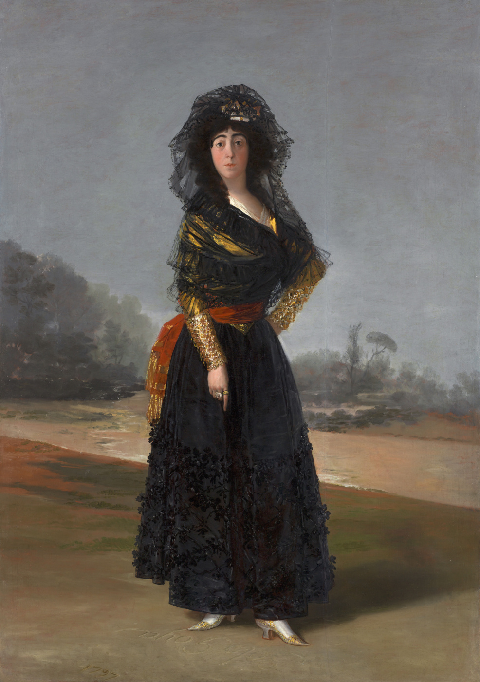 Francisco Goya. Portrait of Duchess Alba