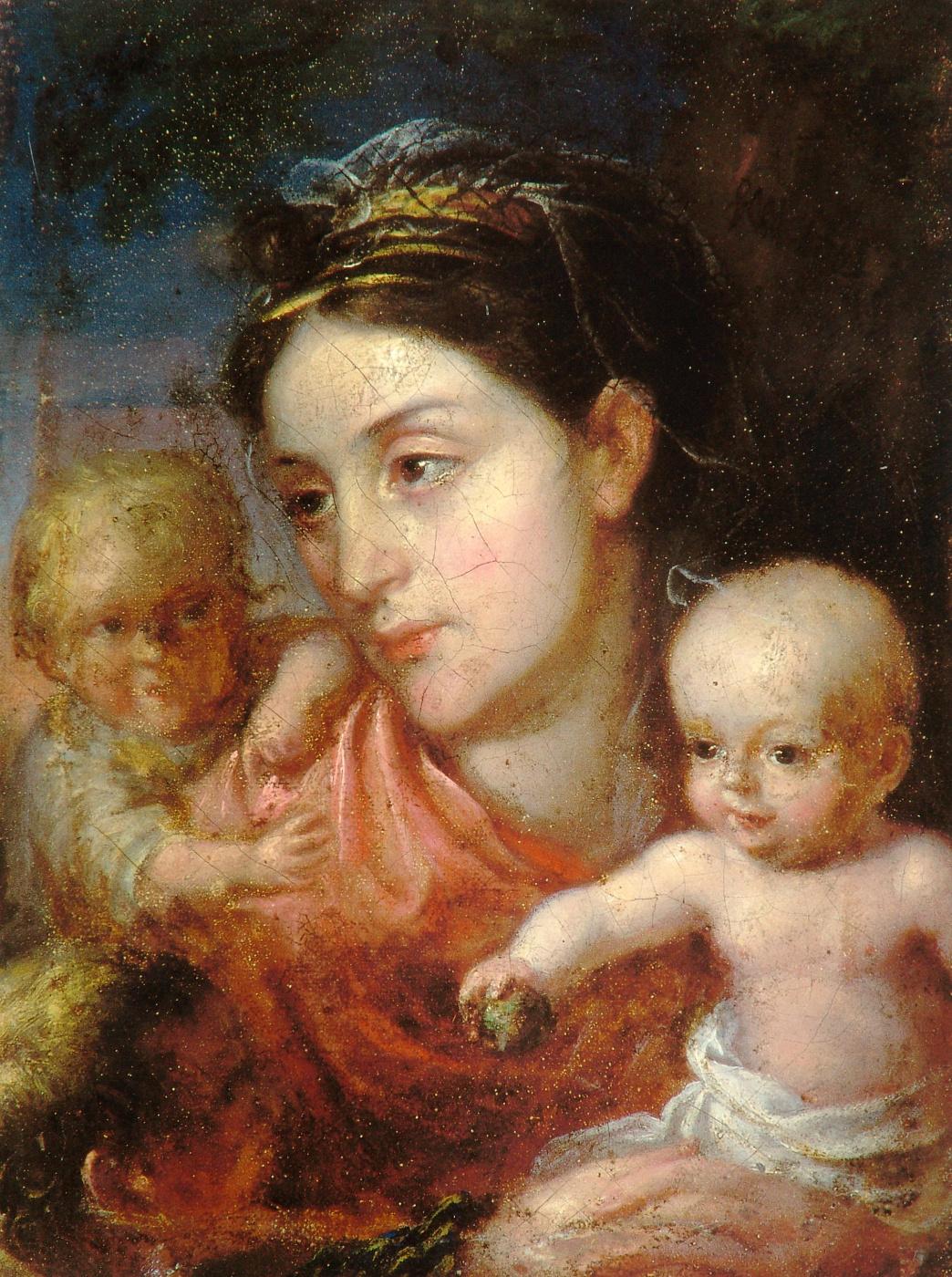 Valentine Mel'chiorovich Vankovich. Portrait of a wife with children