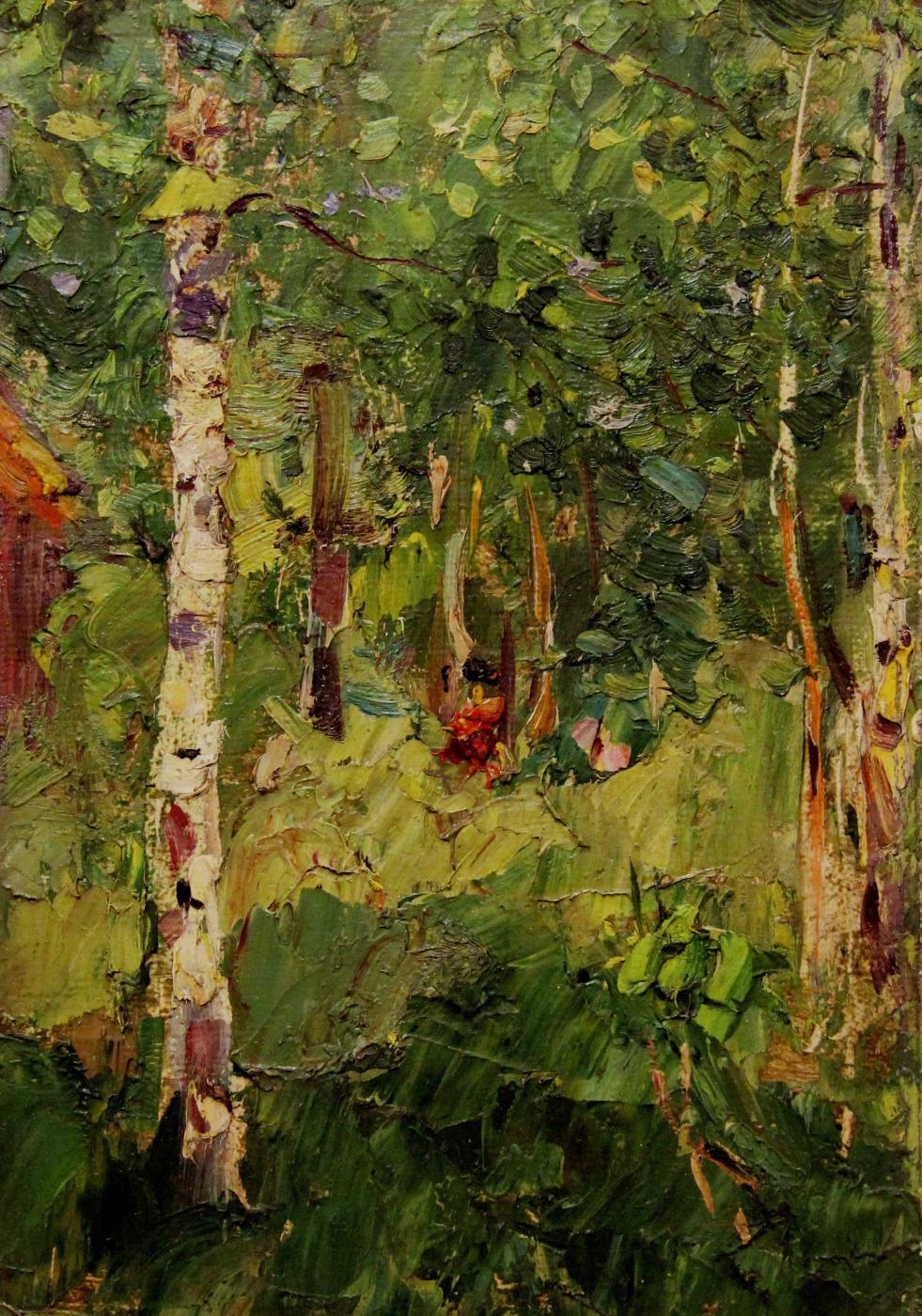 Vladimir Georgievich Gremitskykh. Birch, summer