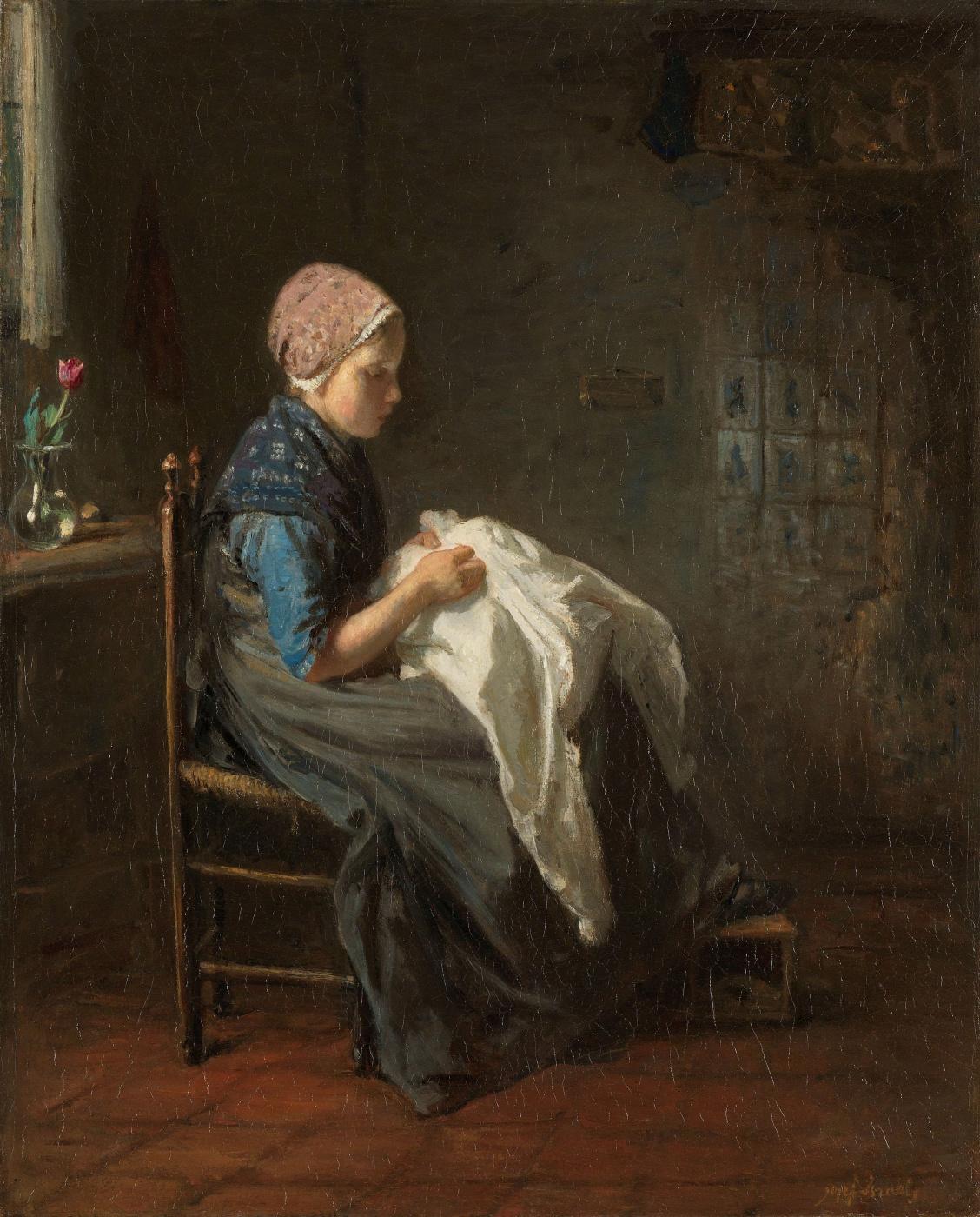 Joseph Israel. Little seamstress