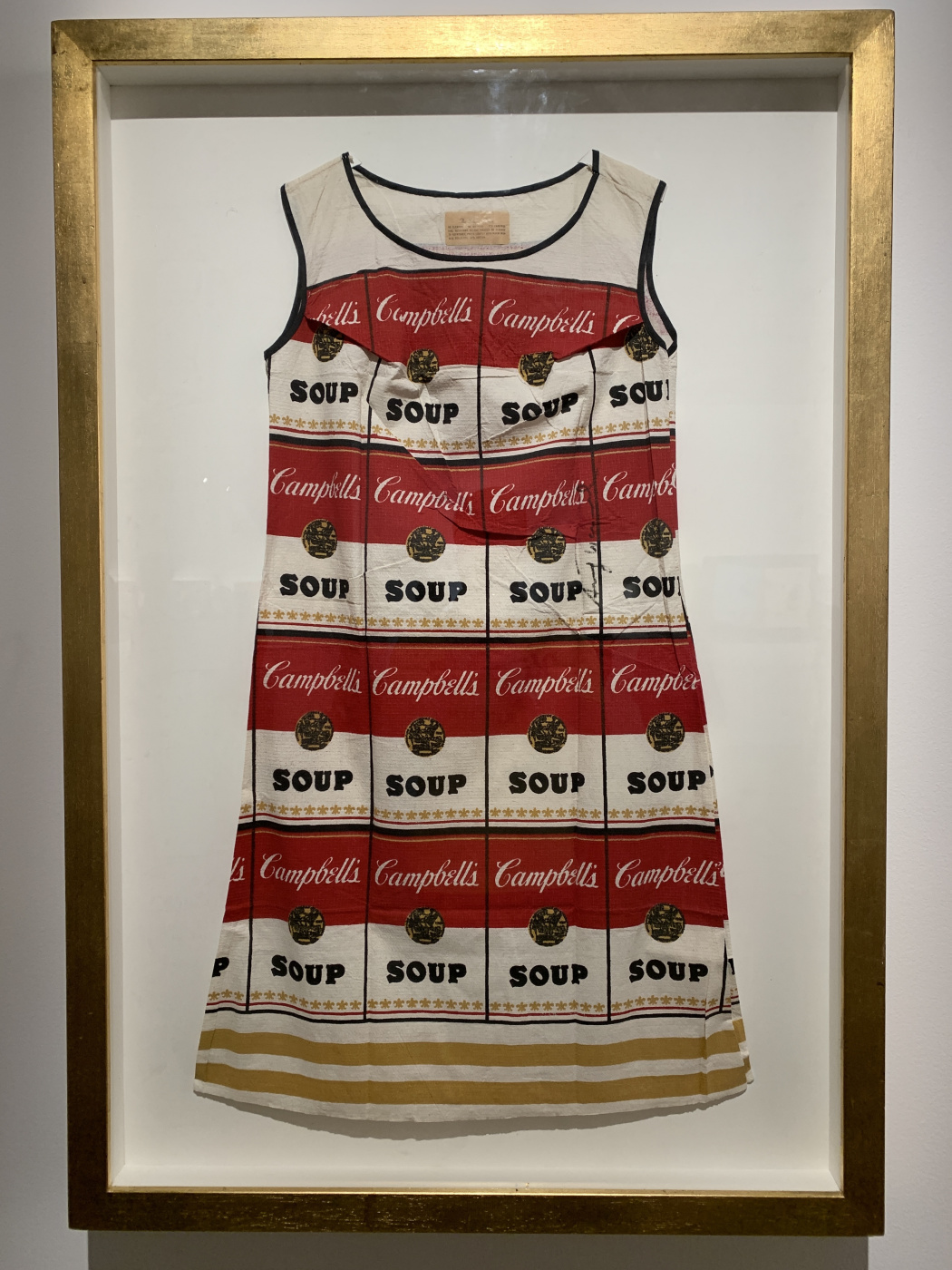 Andy Warho. SUPER dress Campbell