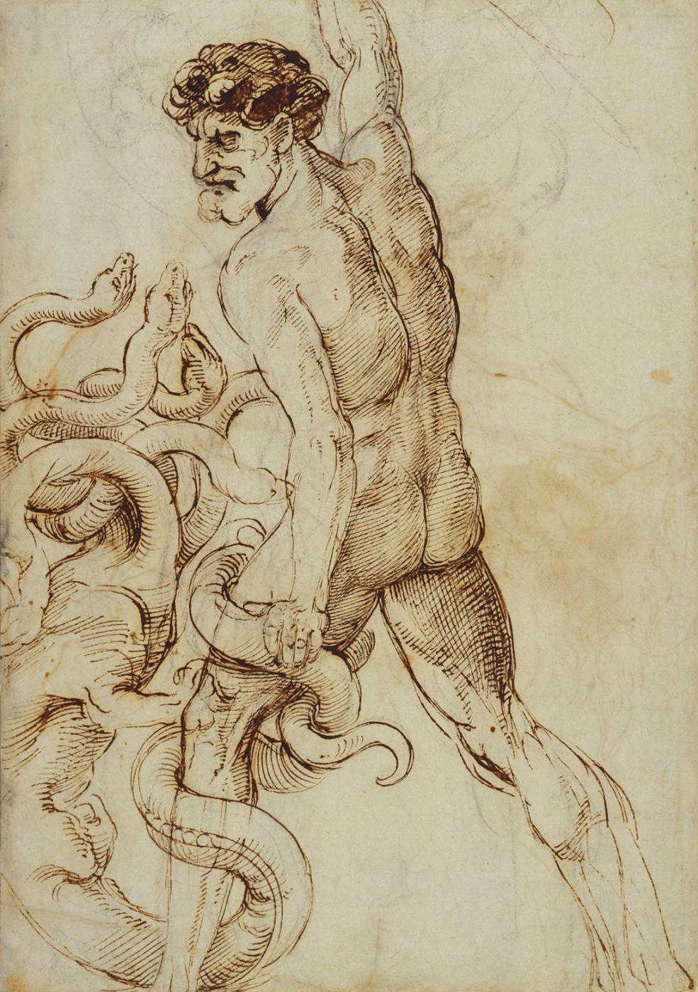 Raphael Sanzio. Hercules and the Lernaean Hydra