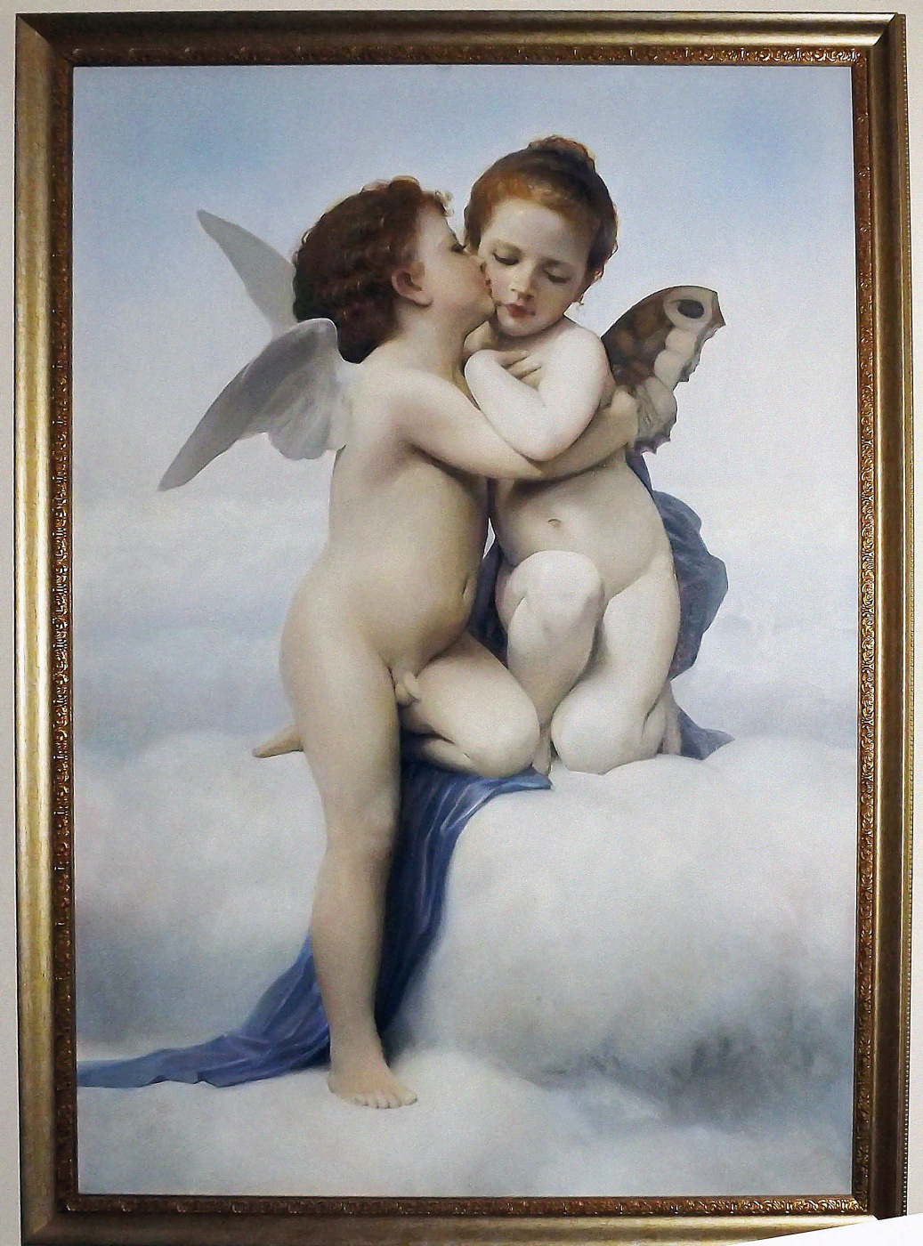 """Sergei Hinz. """"Cupid and Psyche"""" copy by William Adolphe Bouguereau"""
