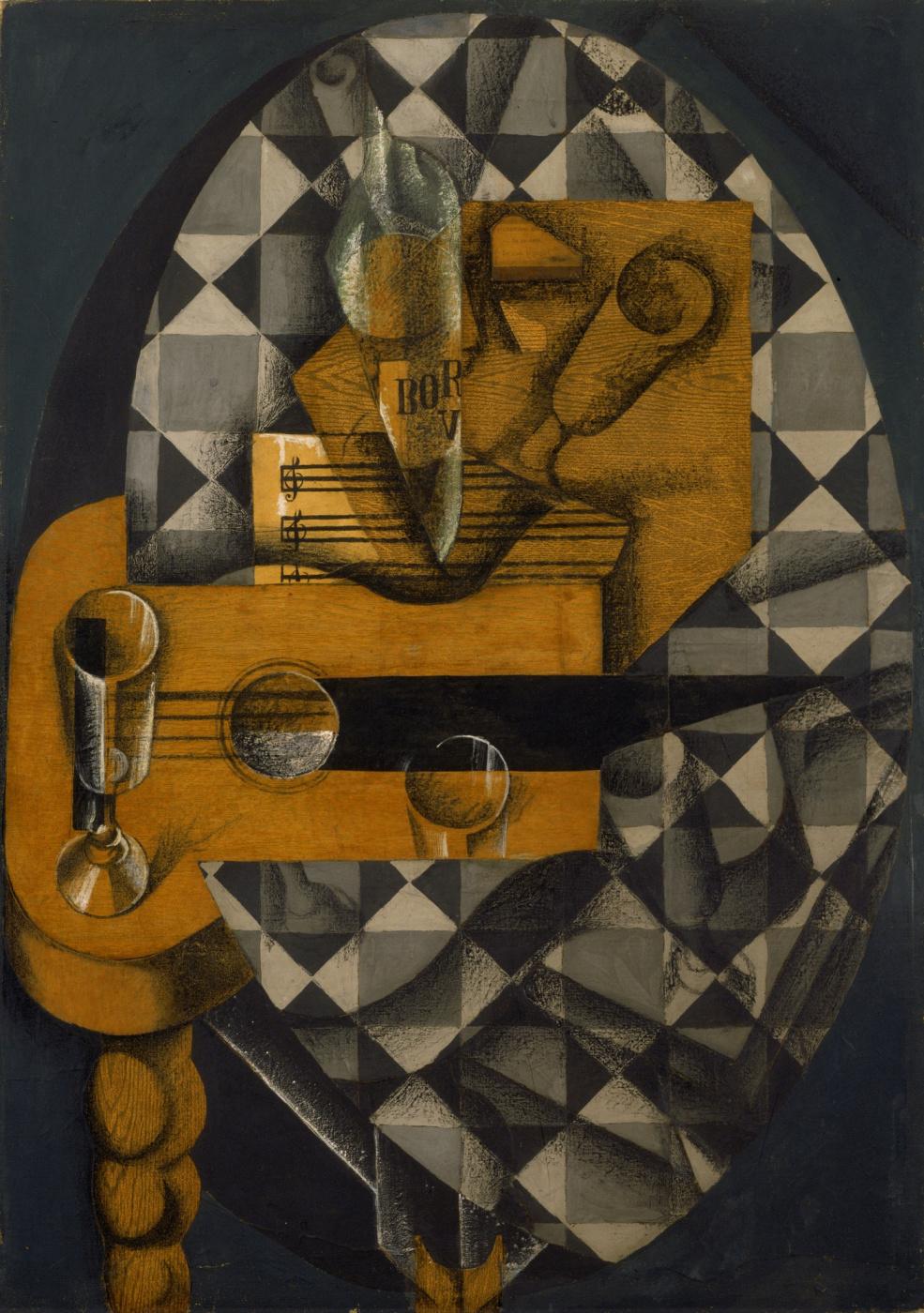 Juan Gris. Guitar and glasses