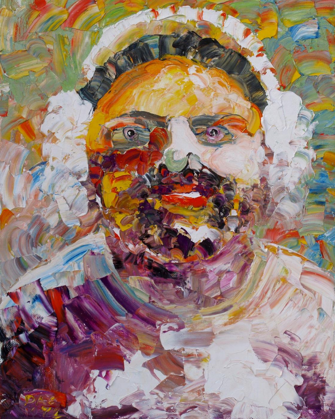 Alexander Ocher Kandinsky-DAE. Setochnika Klava. Etude. Portrait of the Hero of Socialist Labor of the Nizhne-Tagilsky Tank Plant of Claudia Petrovna Porubi. Oil on canvas, 50-40, 1972 year.