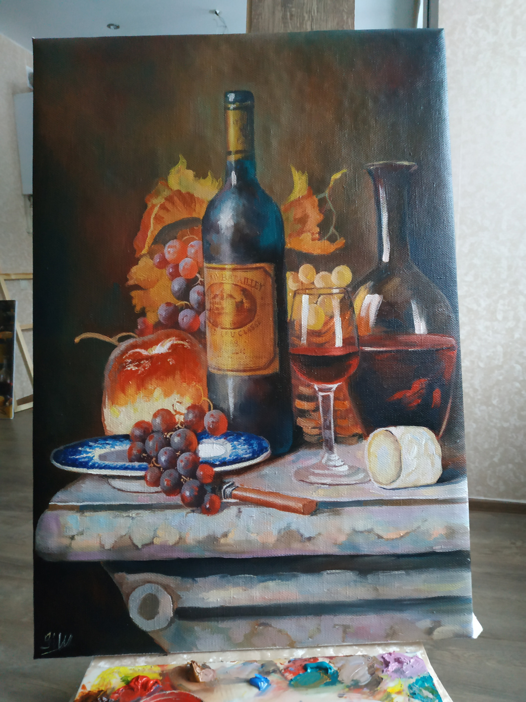 Diana Magomedovna Gadzhieva. Oil painting still life