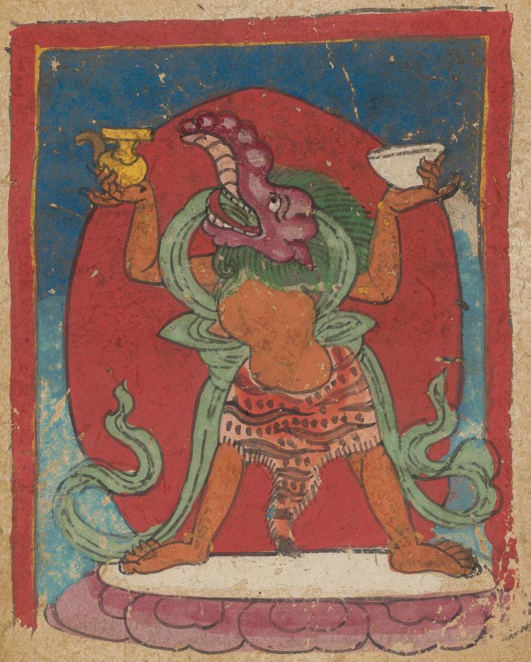Unknown artist. The deity of the Tibetan Bon religion. Map 60