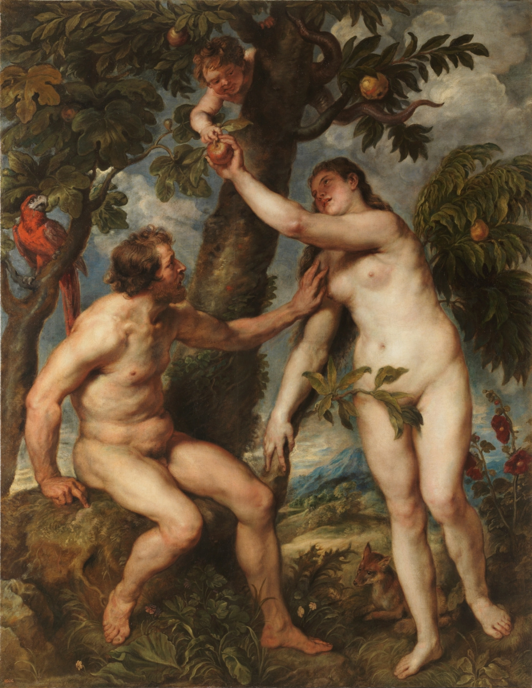 Peter Paul Rubens. Adam and eve