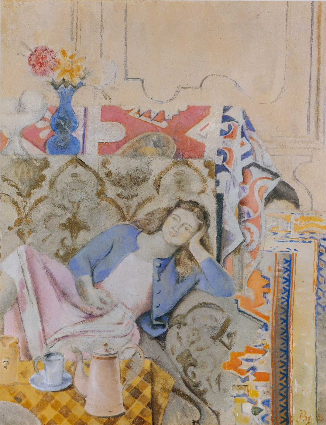 Balthus (Balthasar Klossovsky de Rola). At the coffee table