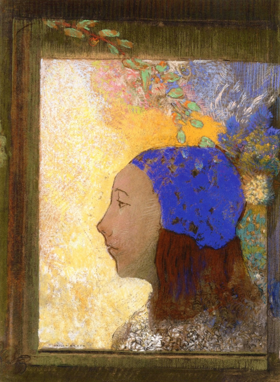 Odilon Redon. Girl in blue cap