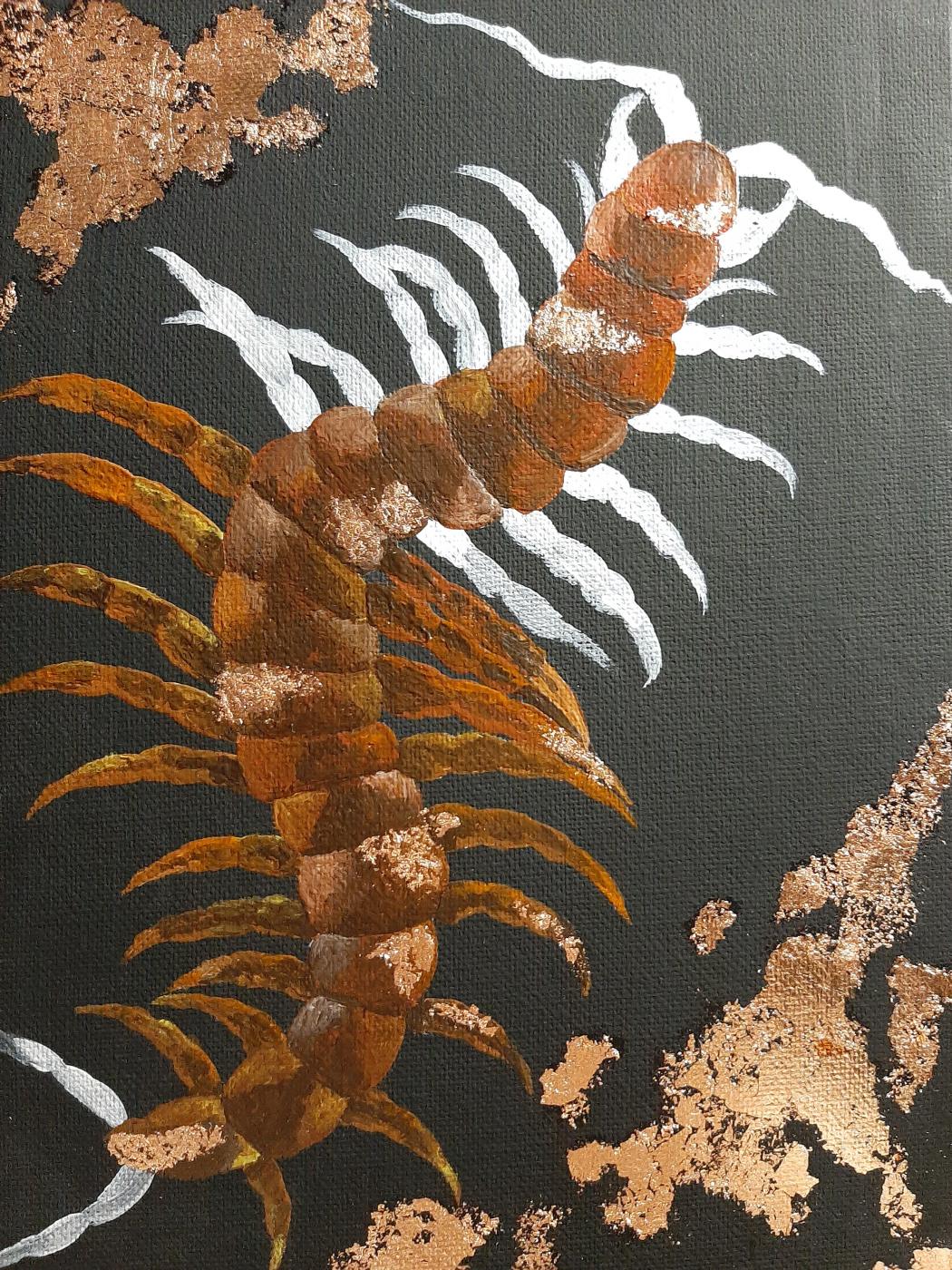 Tatiana Alexandrovna Rupasova. Centipede colored white