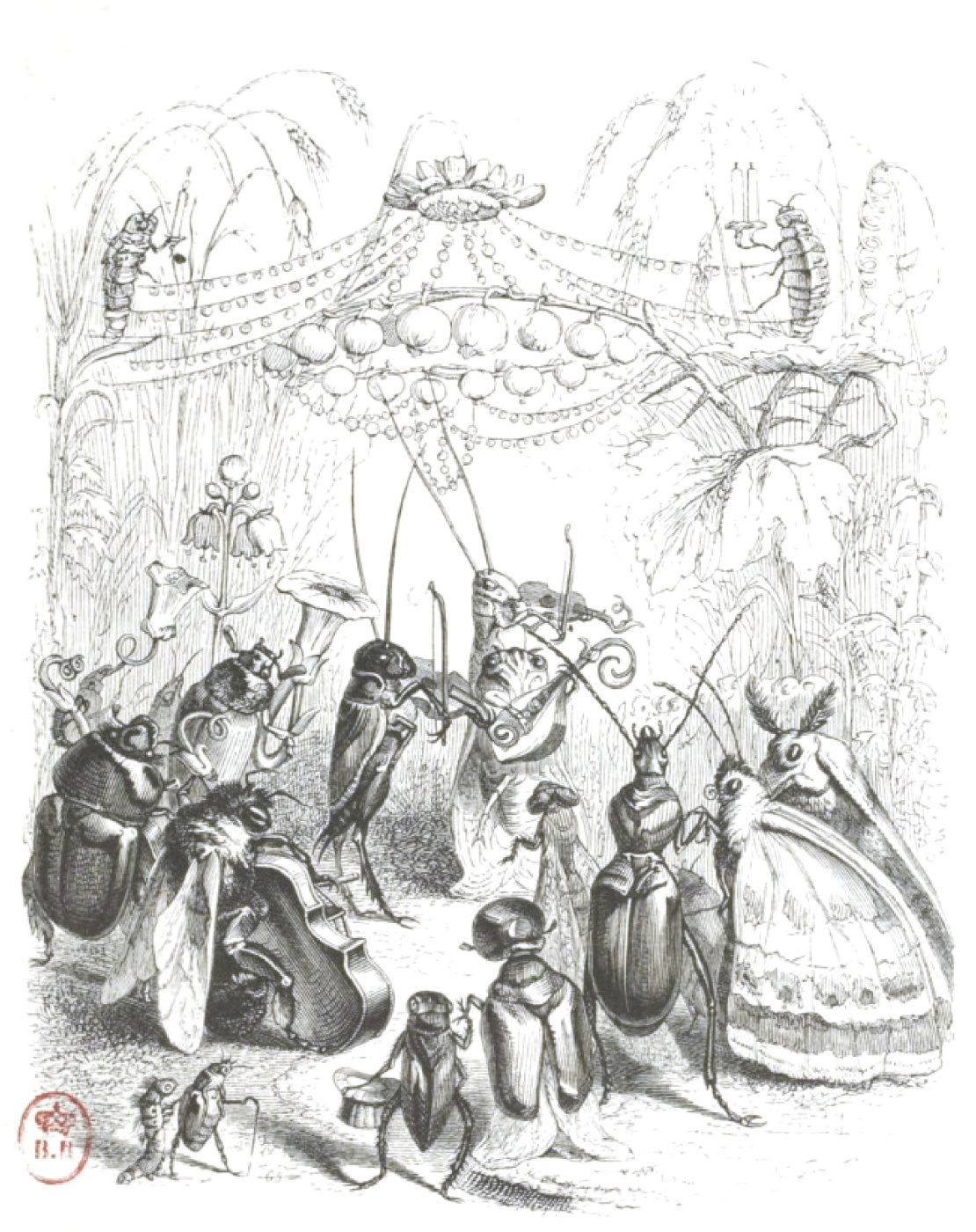 """Jean Inias Isidore (Gerard) Granville. Orchestra. """"Scenes of public and private life of animals"""""""