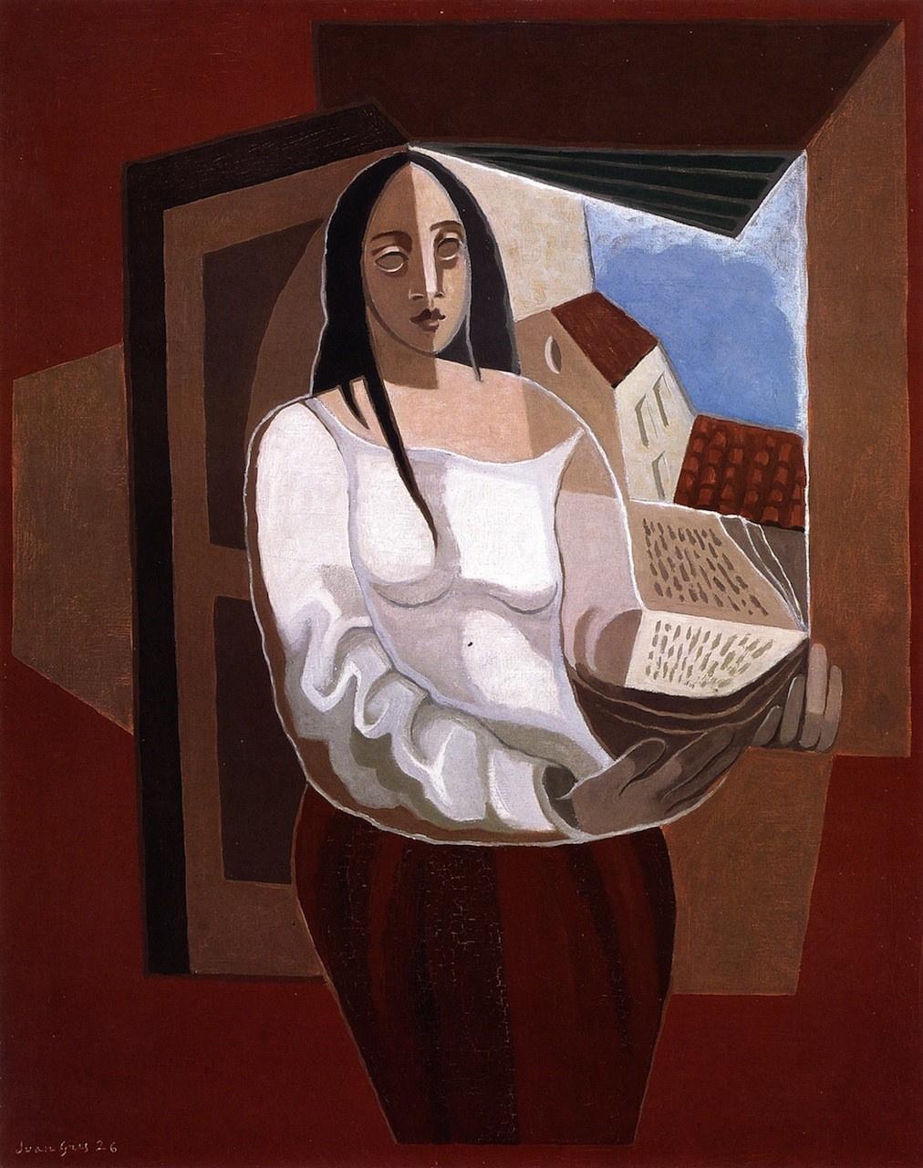 Juan Gris. Woman with book