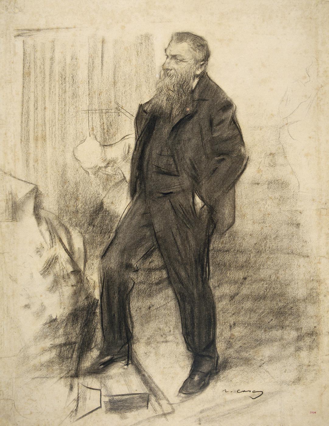 Ramon Casas i Carbó. Portrait of Auguste Rodin