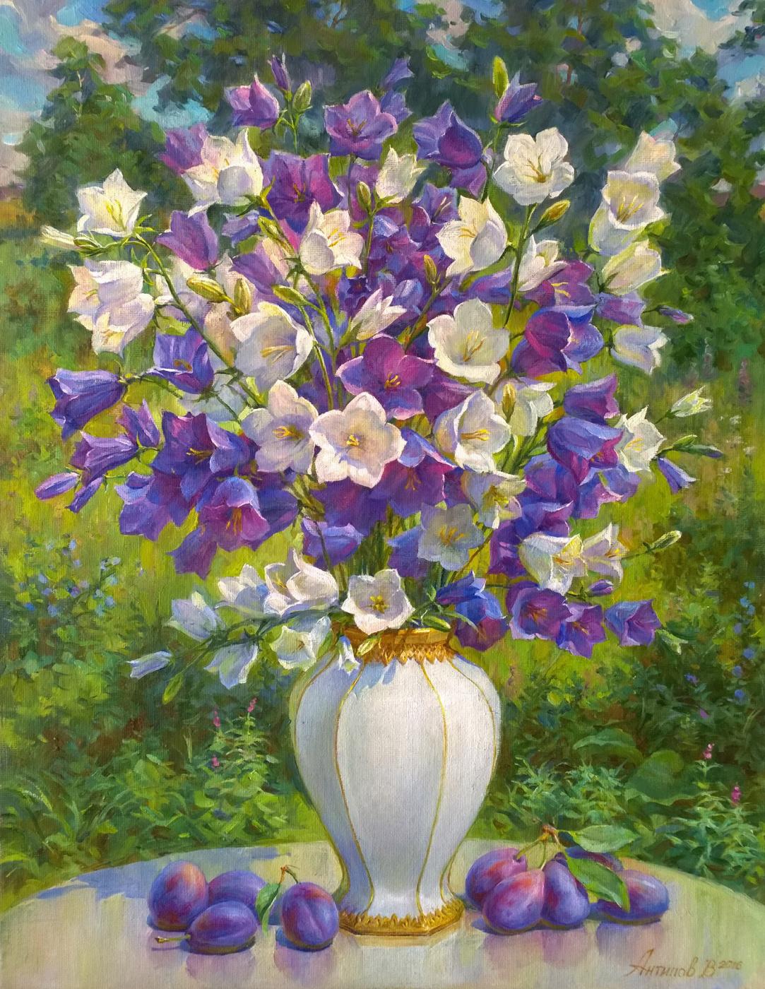 Victor Antipov. Bellflowers