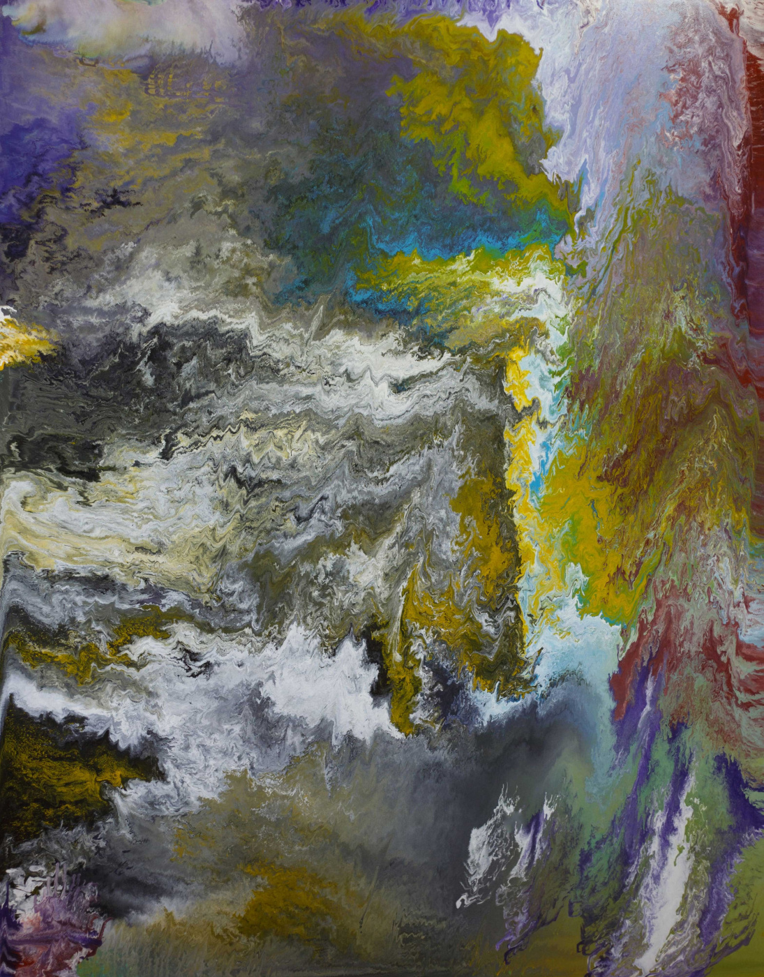 """Alla Struchayeva. The painting """"Earth through the eyes of the universe"""""""