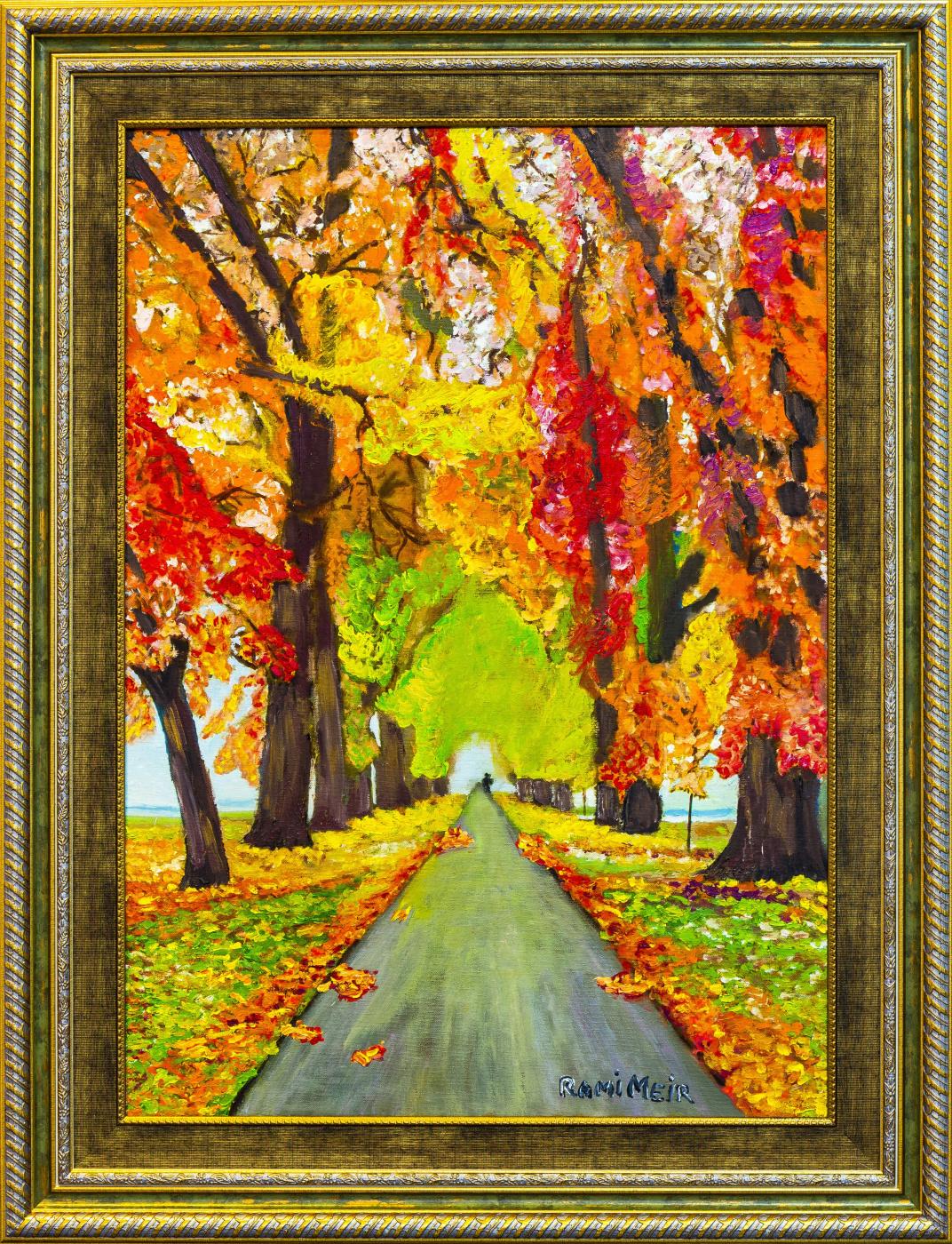 Rami Meir. Autumn road