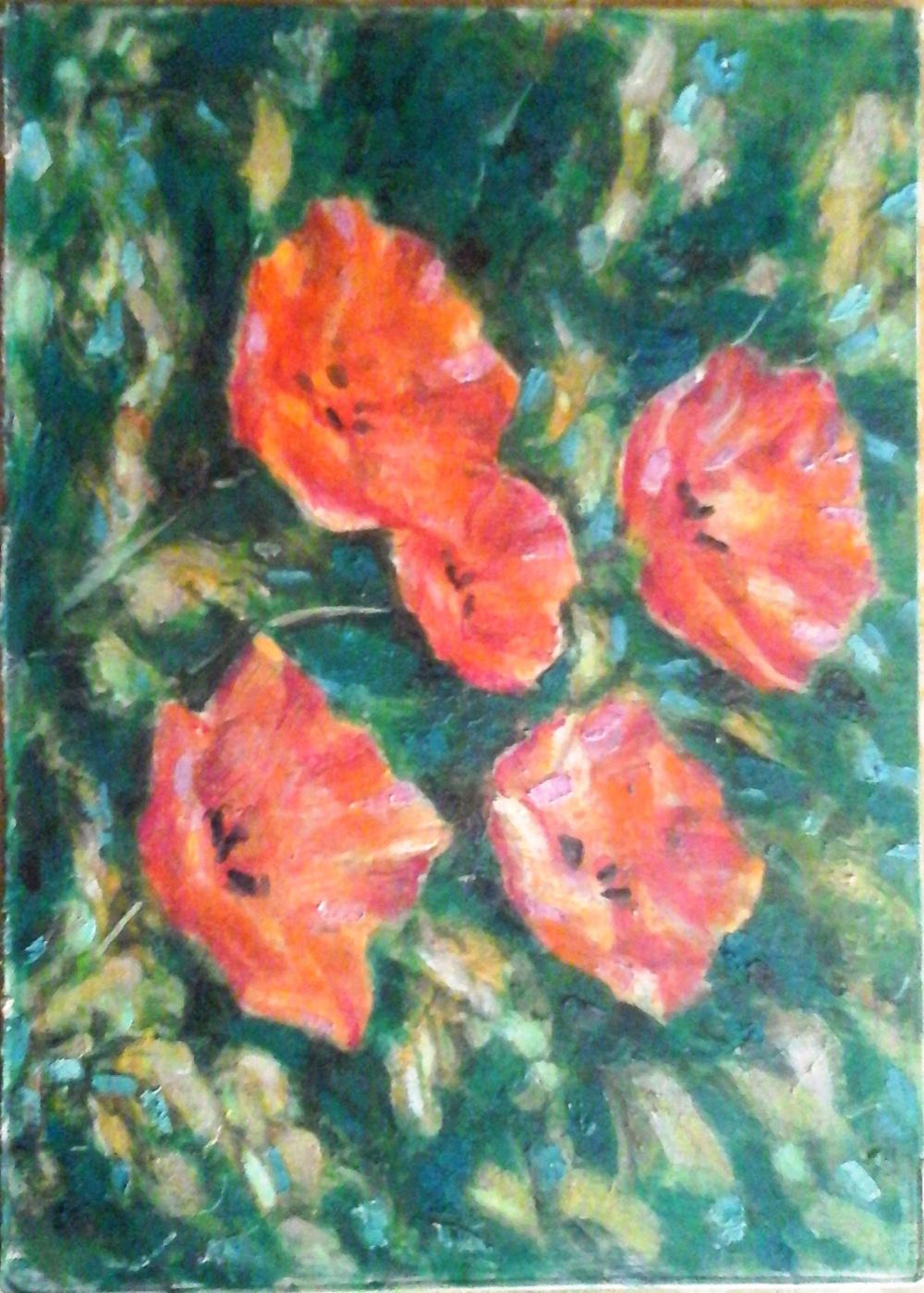 Shechkin. Poppies
