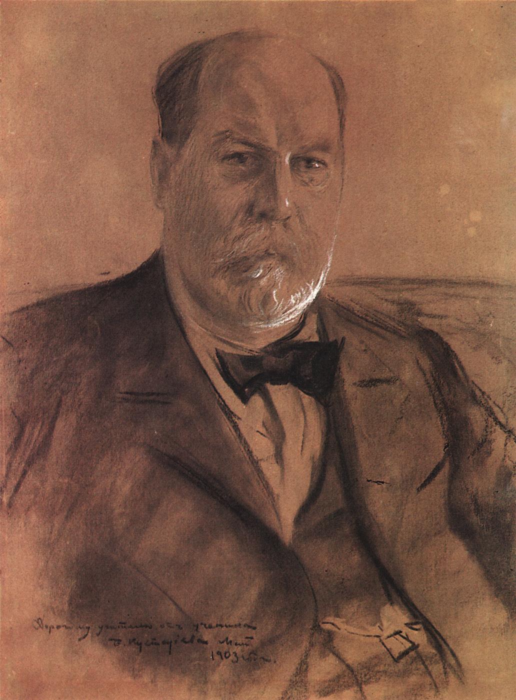 Boris Kustodiev. Portrait Of P. A. Vlasova