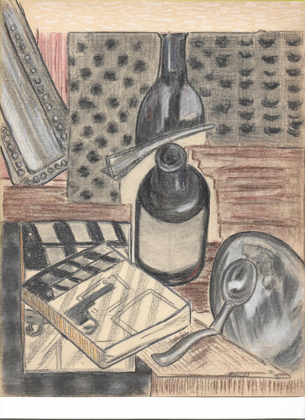 Rolzwild Lopez Cazarez. Cuchara,botella,libro.