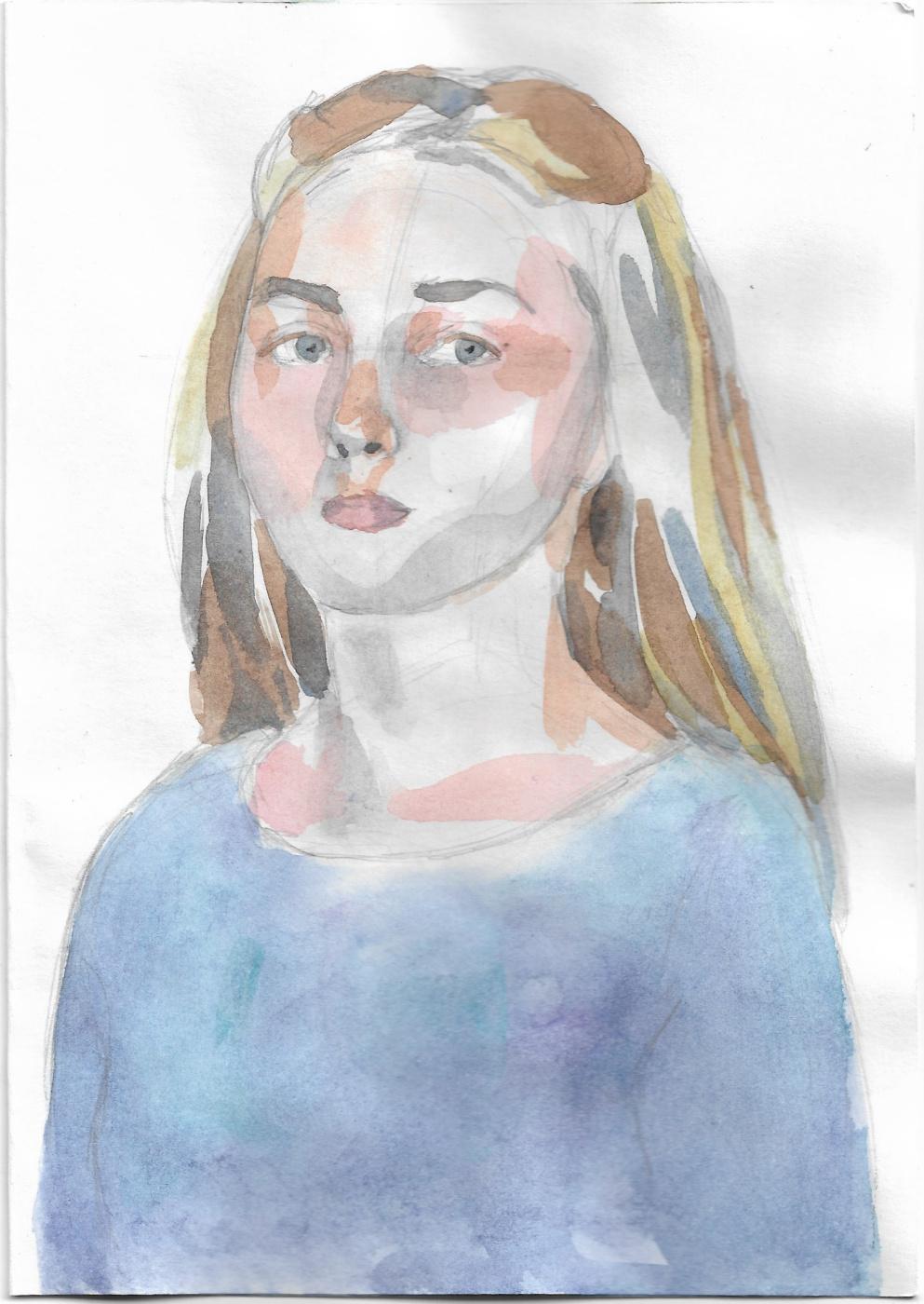 Александра Котвицкая. Портрет (Ундина)