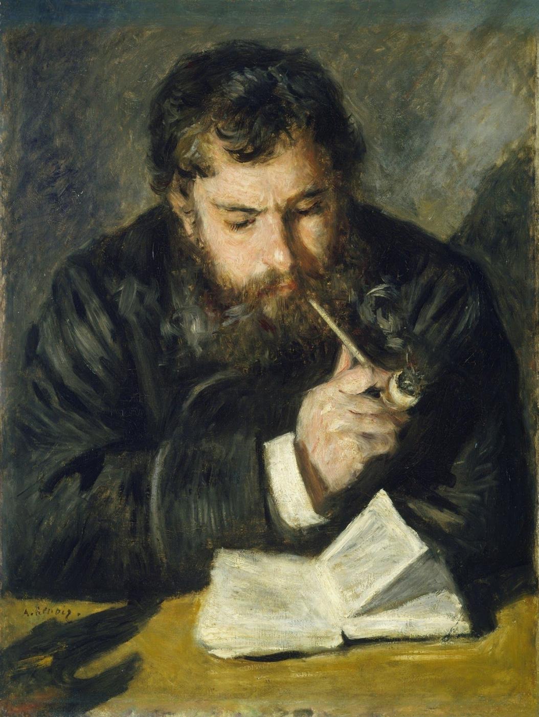 Pierre-Auguste Renoir. Claude Monet reading