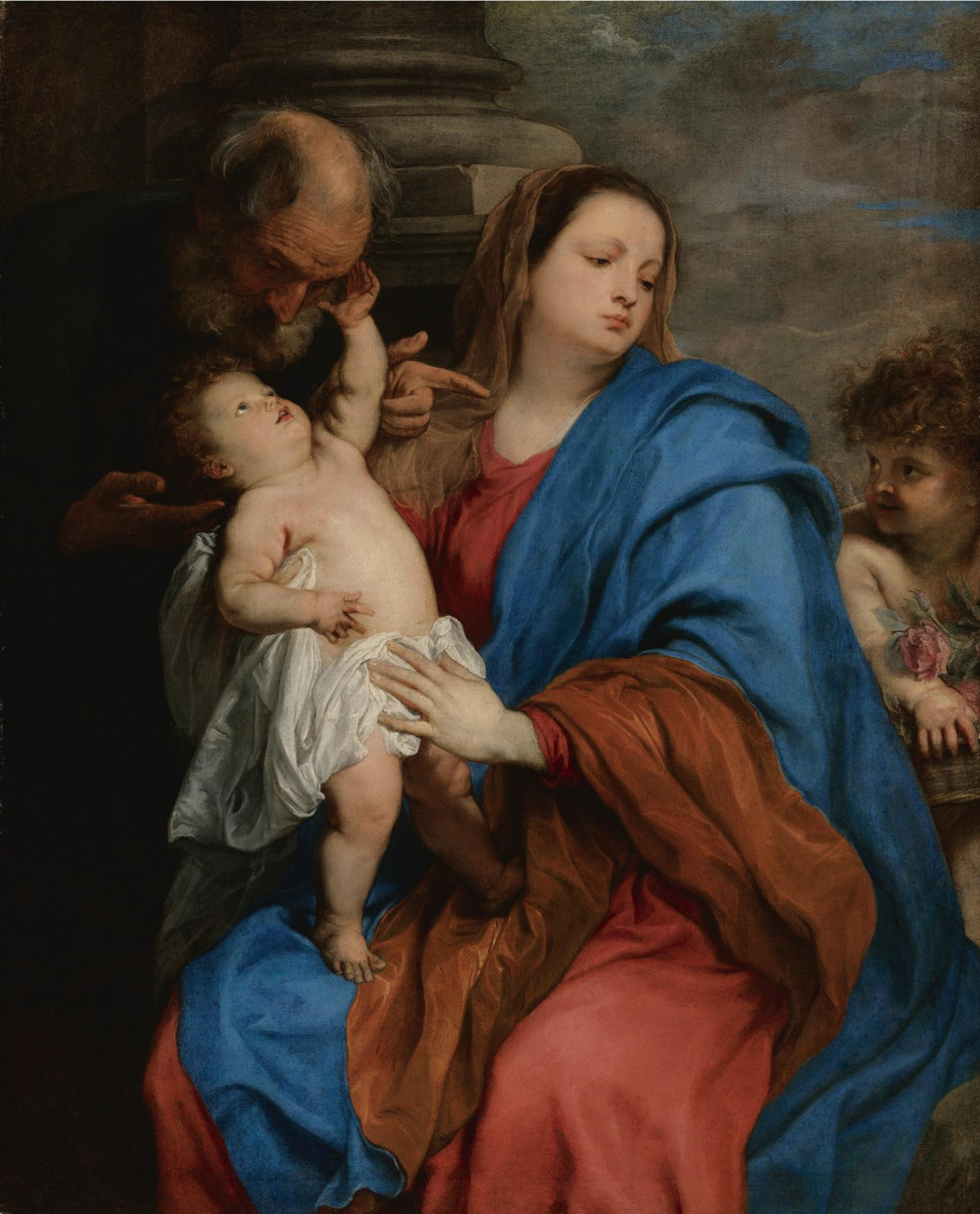 Anthony van Dyck. Holy family with an angel