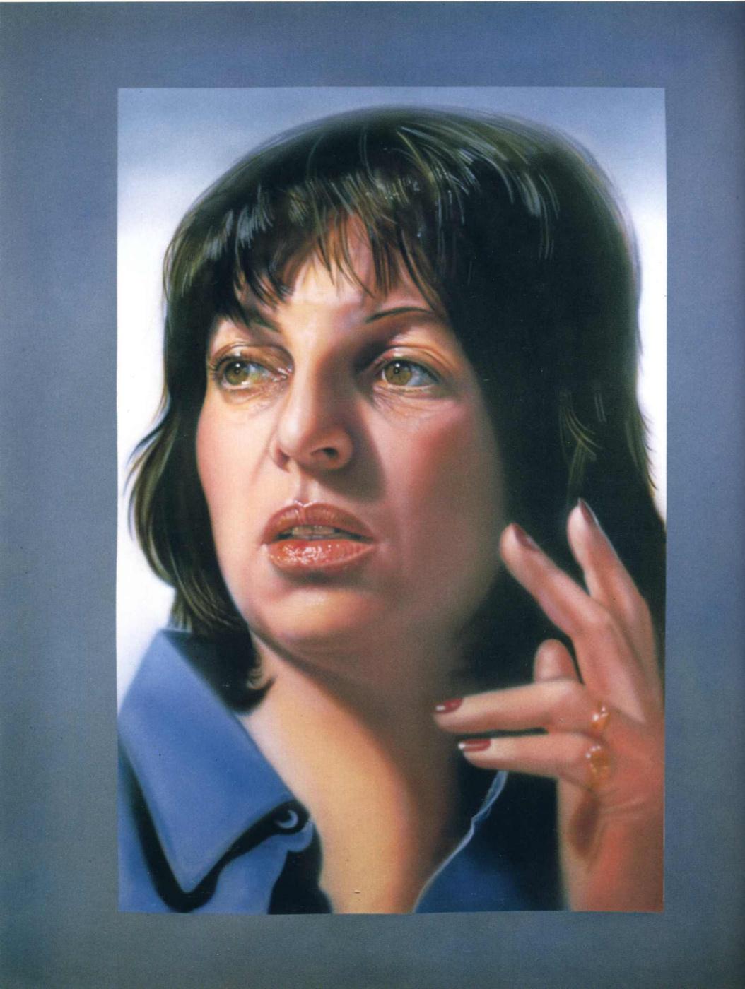 Audrey Flack. Self-portrait