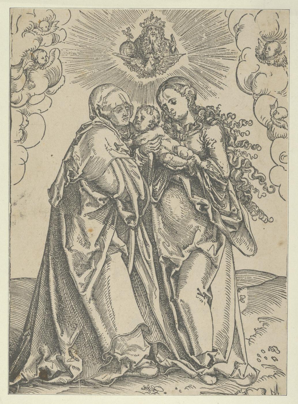 Lucas Cranach the Elder. Saint Anne with the Madonna and infant Christ