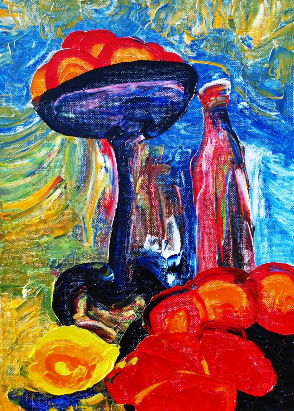 Alexander Ocher Kandinsky-DAE. Still life with a red bottle