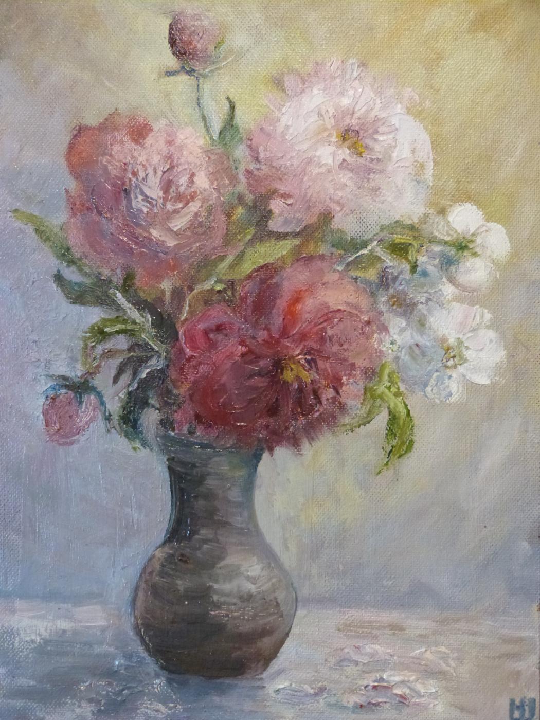 Nadezhda Georgievna Shatskaya. Bouquet of peonies