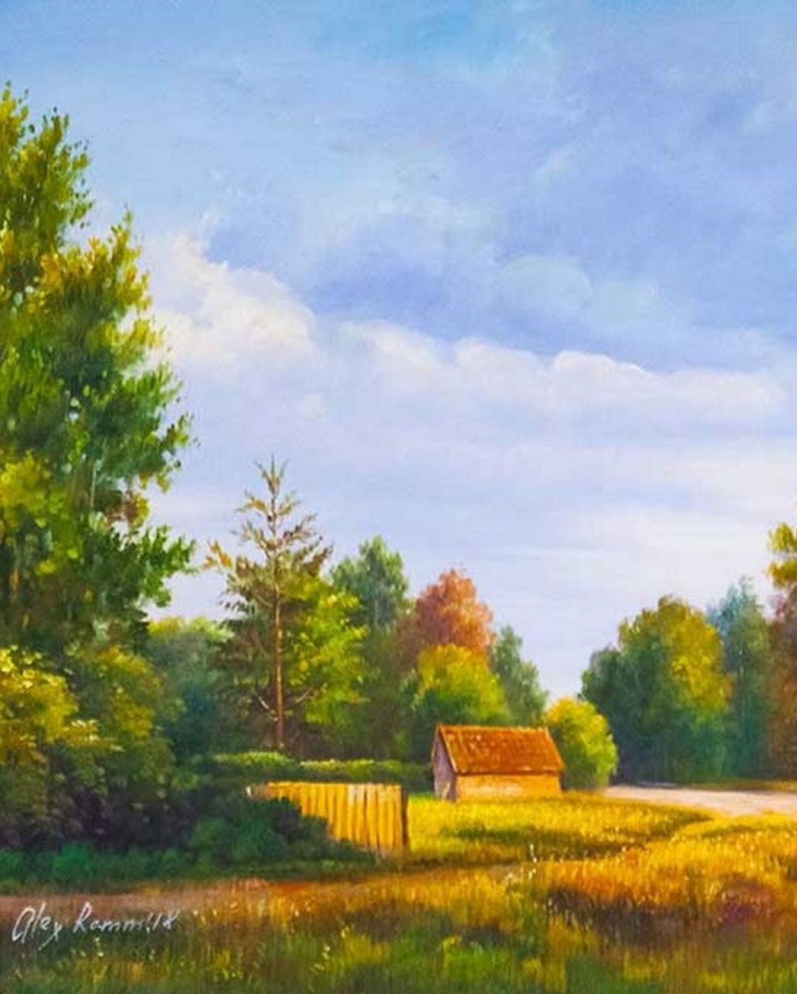Alexander Romm. Summer day in the village N2