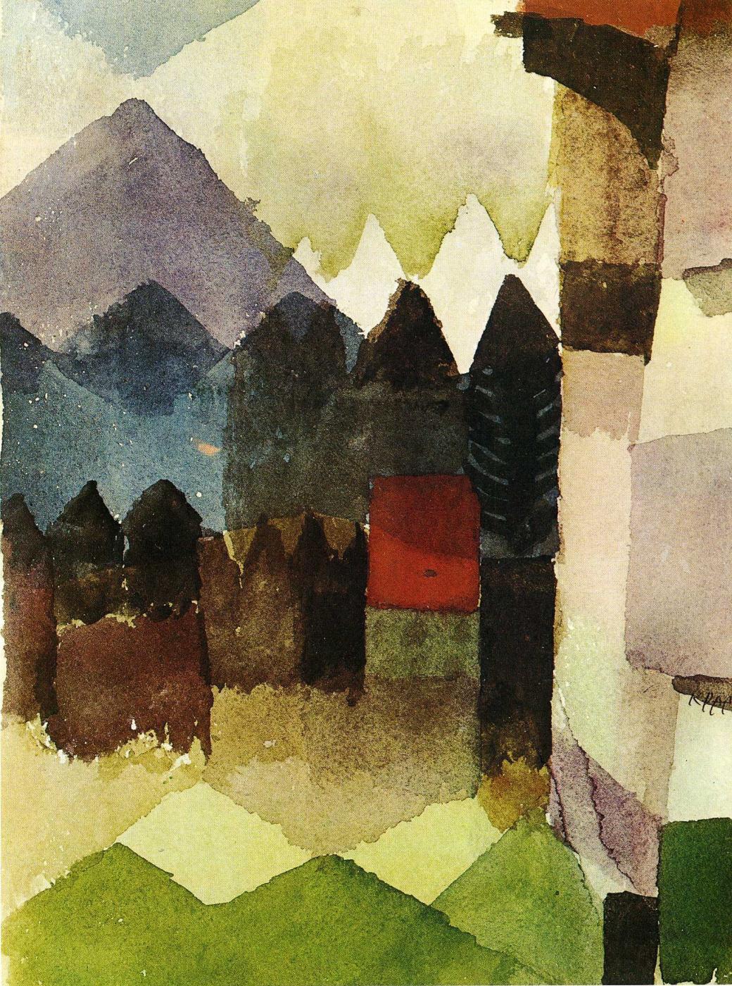Paul Klee. The wind in the garden