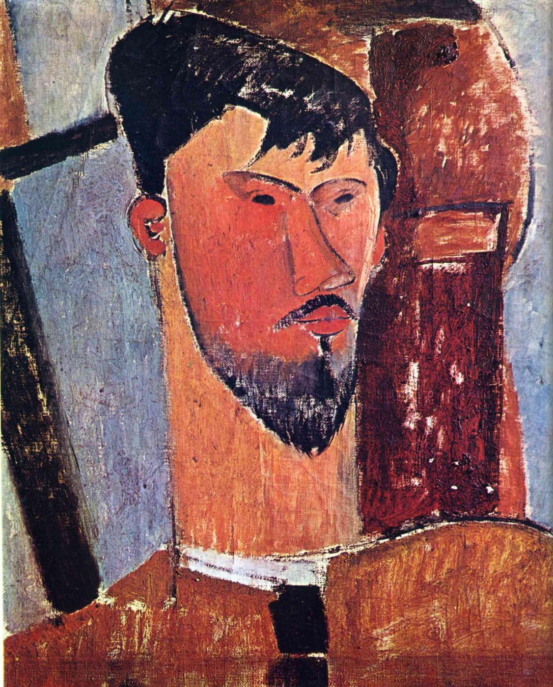 Amedeo Modigliani. Portrait Of Henri Laurent