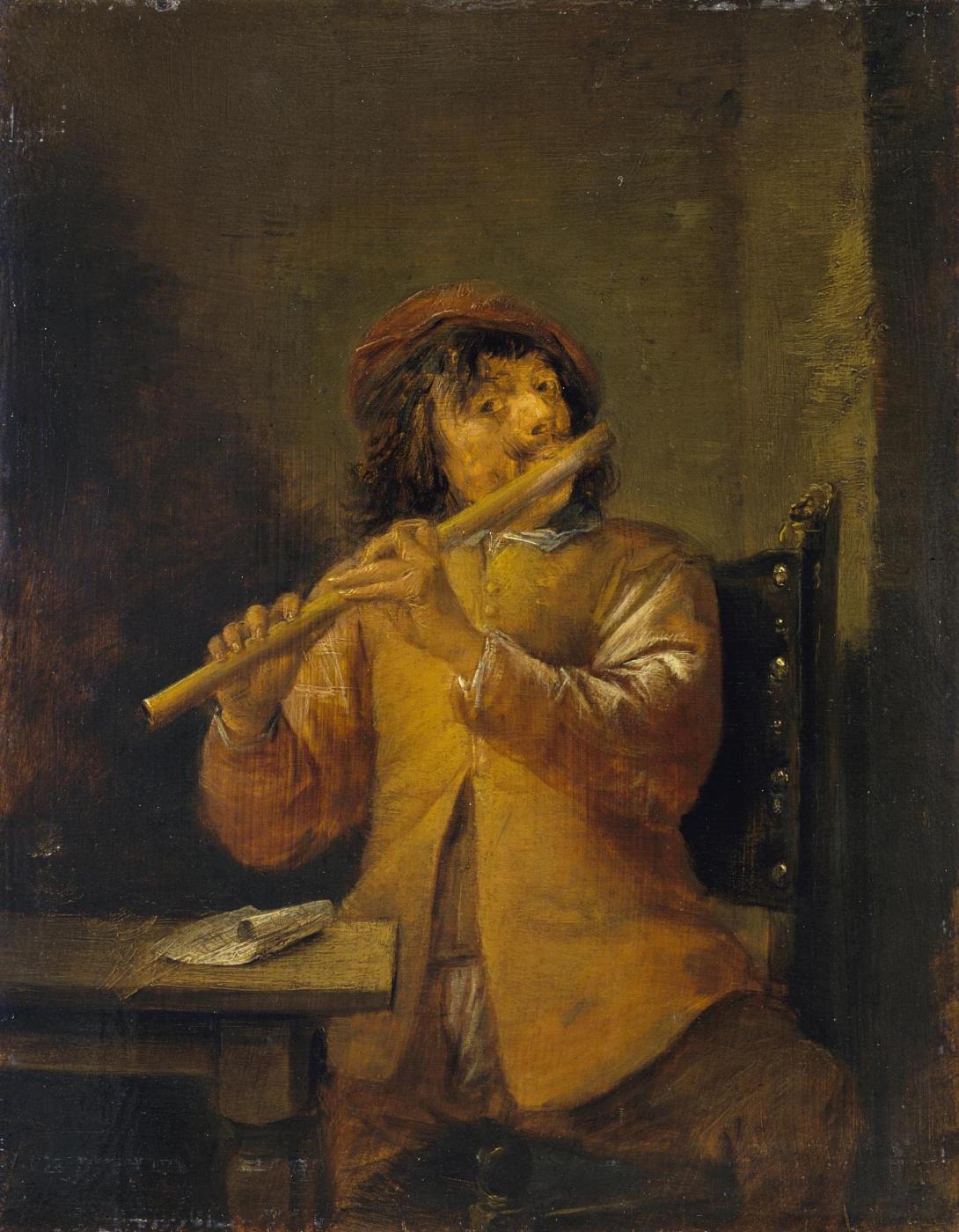 David Teniers the Younger. Flutist