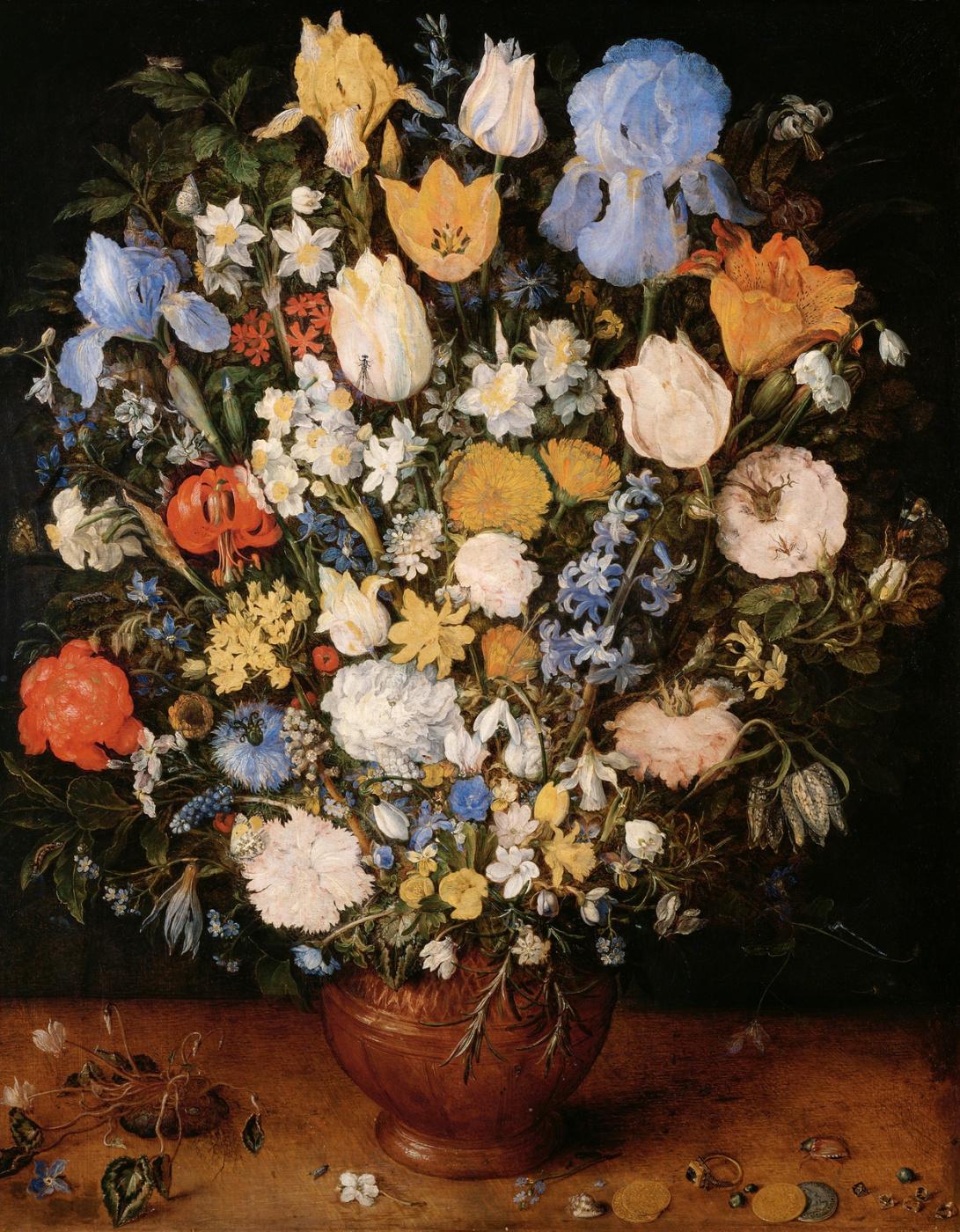 Ян Брейгель Старший. Букет в вазе. Около 1607