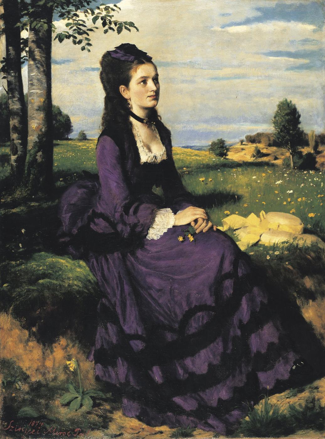 Pál Szinyei Merse. Lady in purple