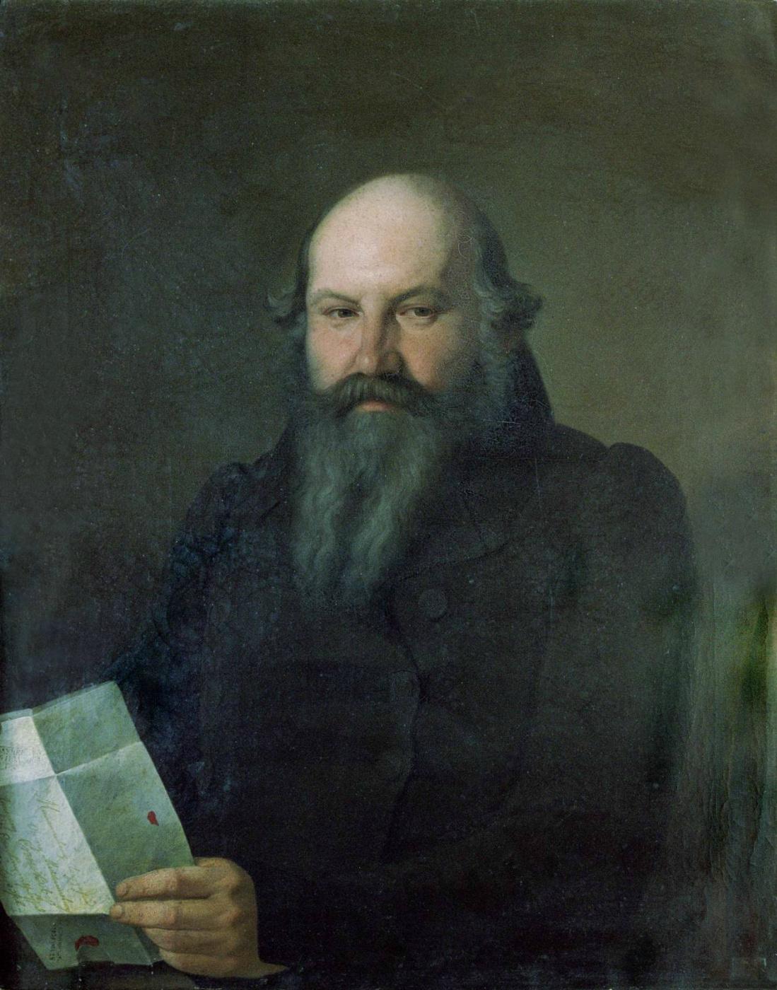 Sergey Konstantinovich Zaryanka. Portrait of Osip Mikhailovich Senkov