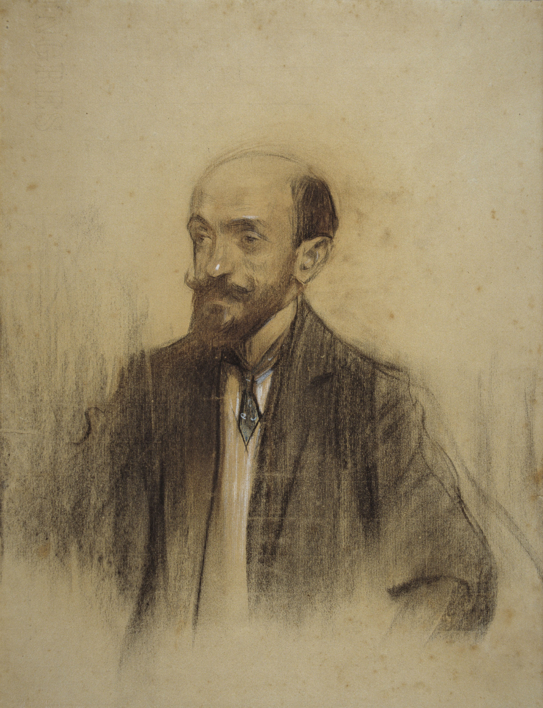 Ramon Casas i Carbó. Portrait of Vicente Lamperes Romea