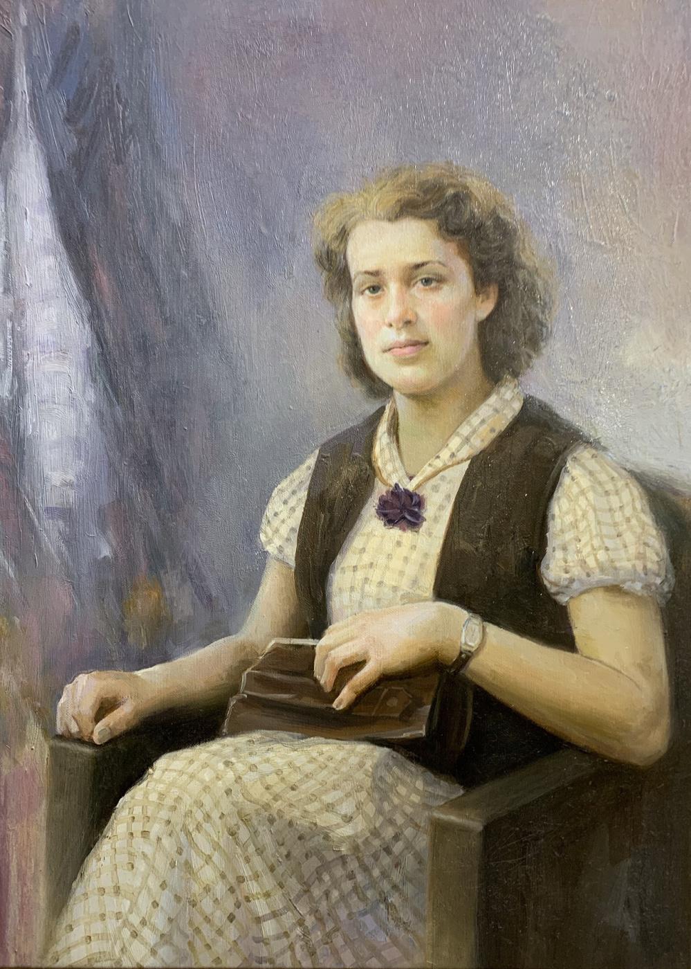 Savely Kamsky. Портрет девушки. Ретро