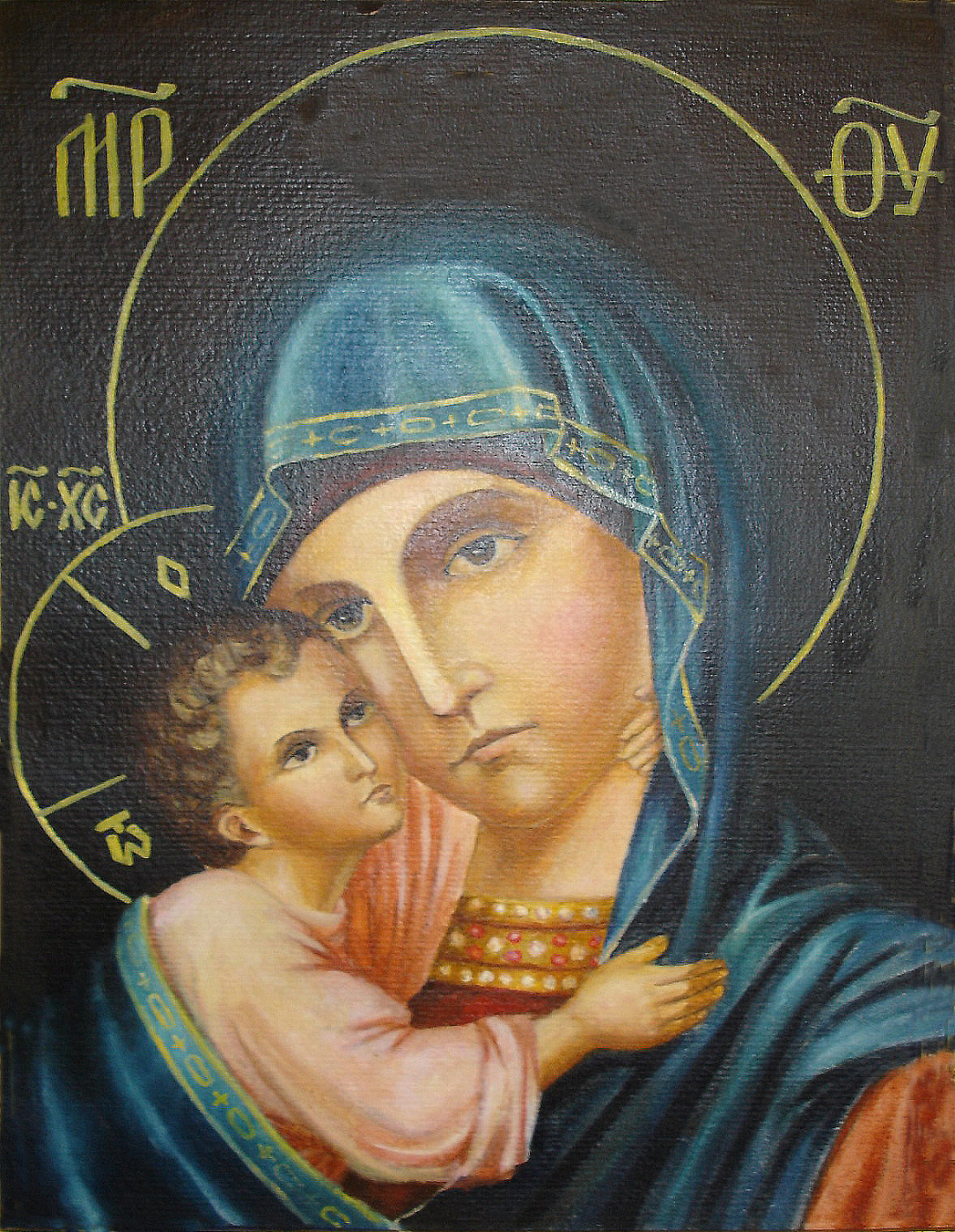 Yuri Petrovich Konnov. The image of the Most Holy Theotokos.