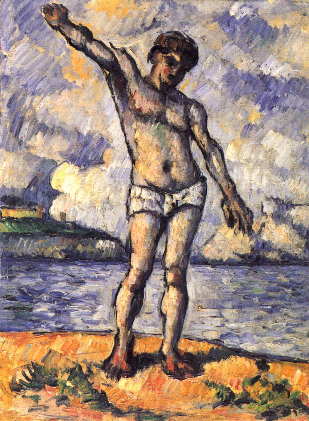 Paul Cezanne. Bather with crossed arms